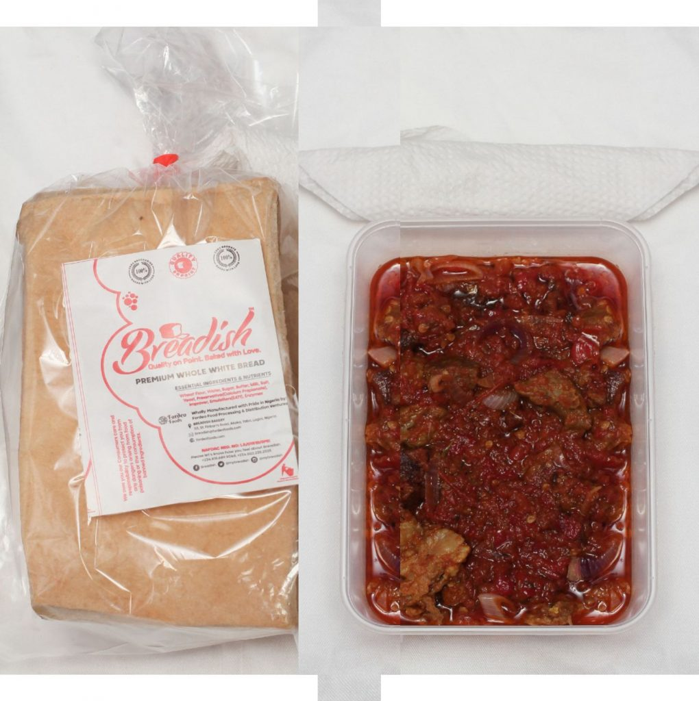 Whole White Mini Loaf + Diced Goat Meat in Sauce